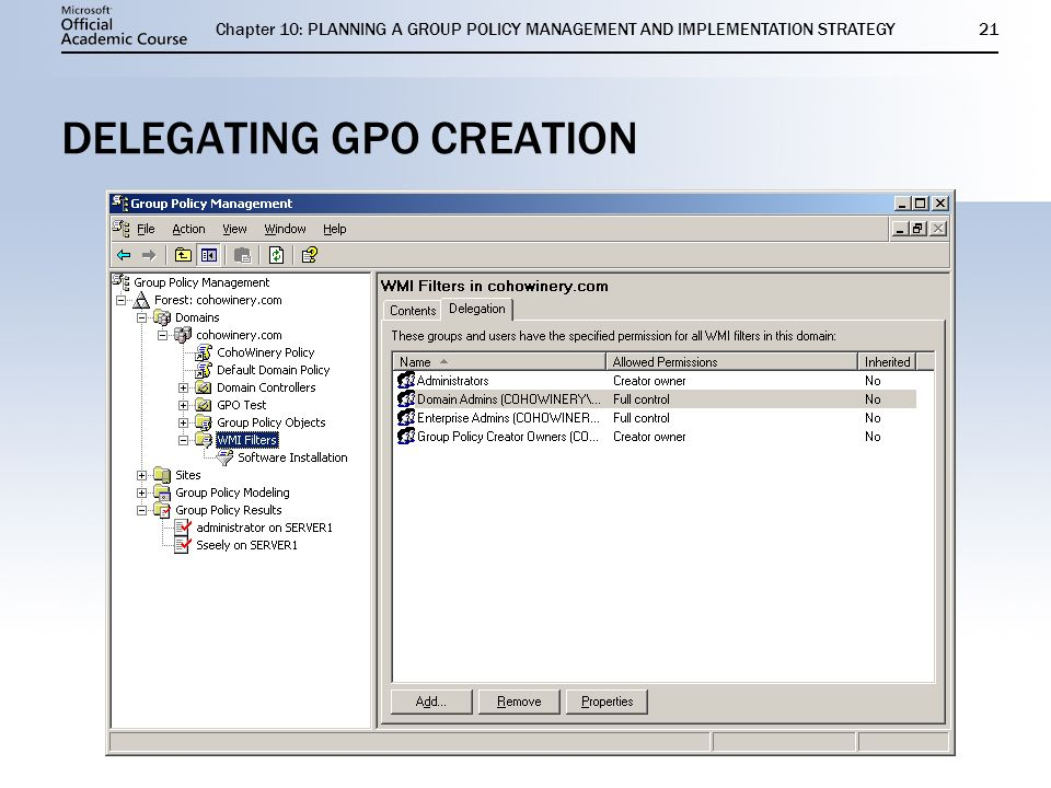 change gpo default owner