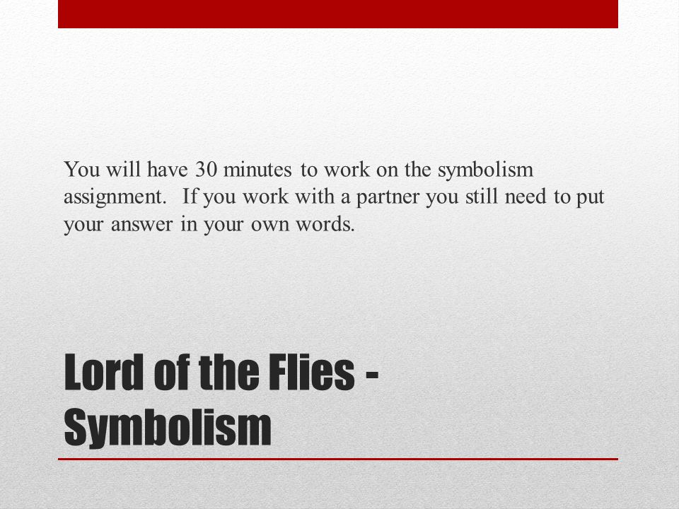 Lord of the Flies!! Help! Can you give me an idea for my prompt!?