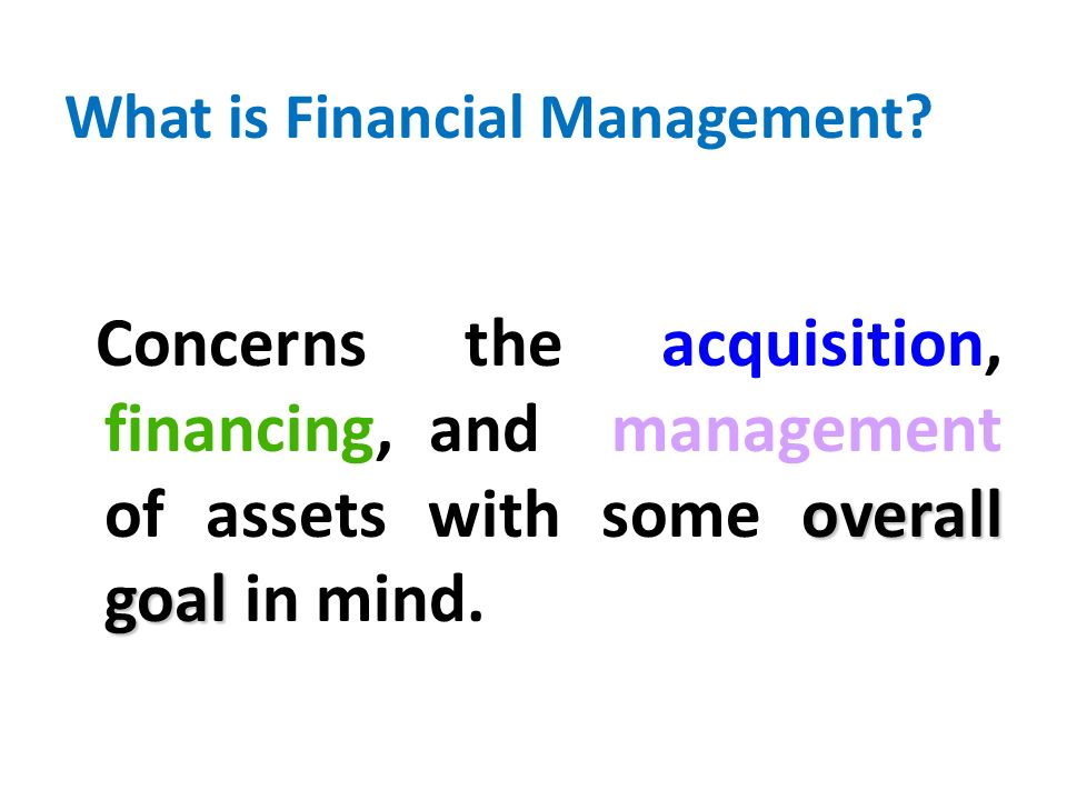 What is Financial Management.