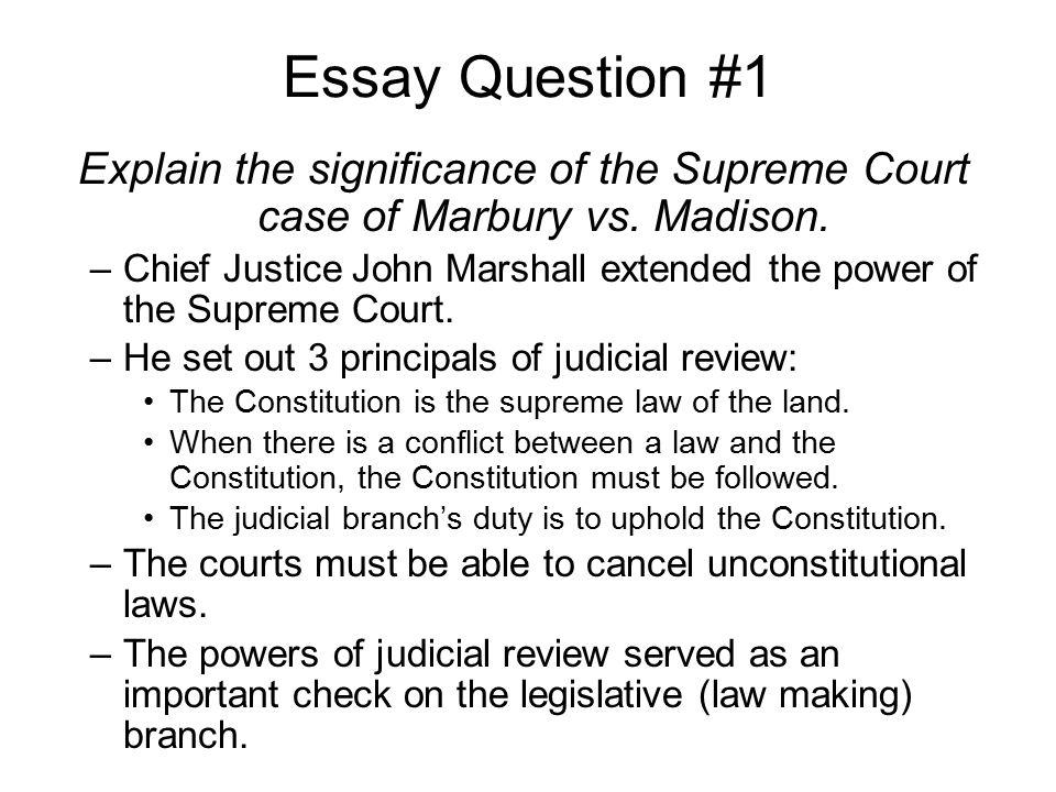 supreme court cases marbury vs madison essay