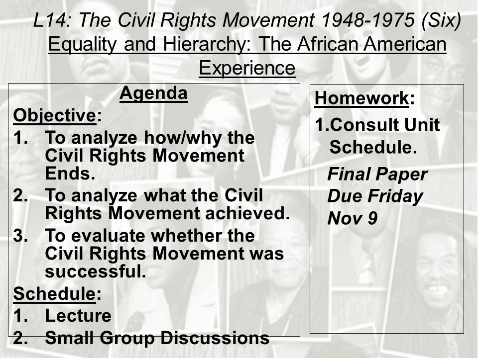 african american civil right movement essay example