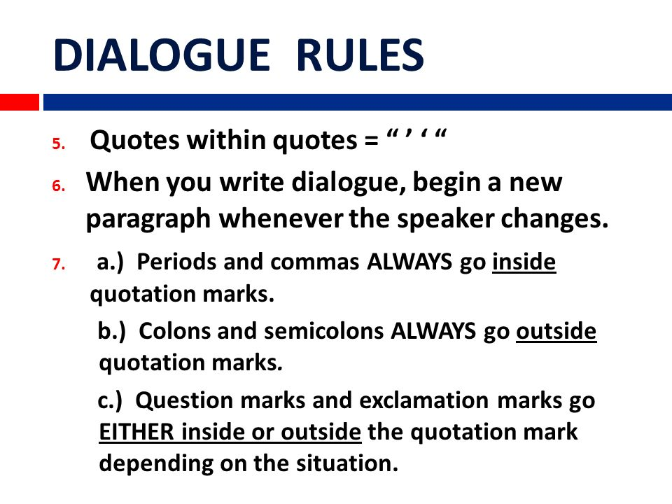 How to properly write dialogue in an essay