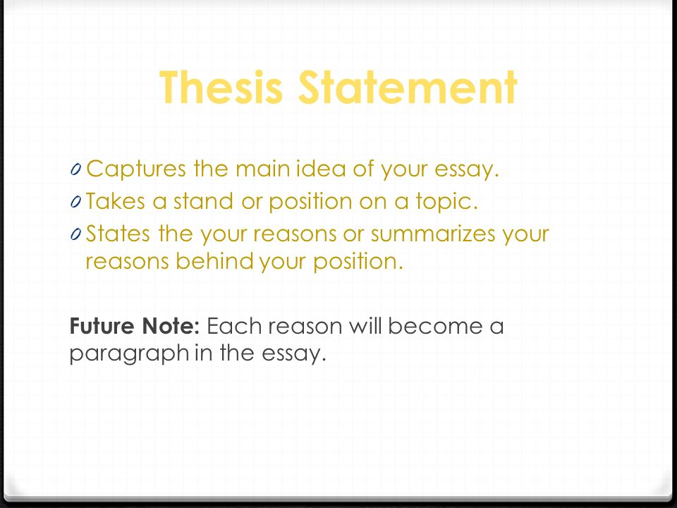 Argumentative Writing A Argumentative Or Persuasive Essay Thesis  Statementcaptures The Main Idea Of Your Essaytakes A