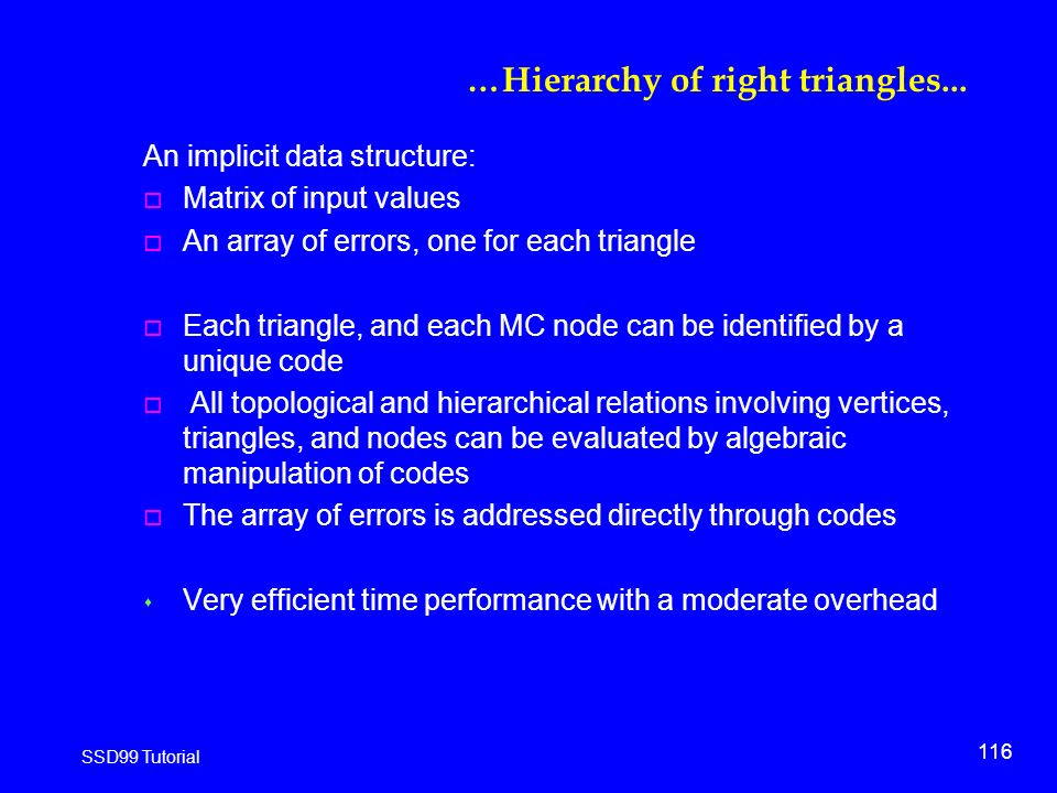 116 SSD99 Tutorial …Hierarchy of right triangles...
