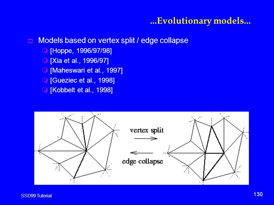 130 SSD99 Tutorial...Evolutionary models...