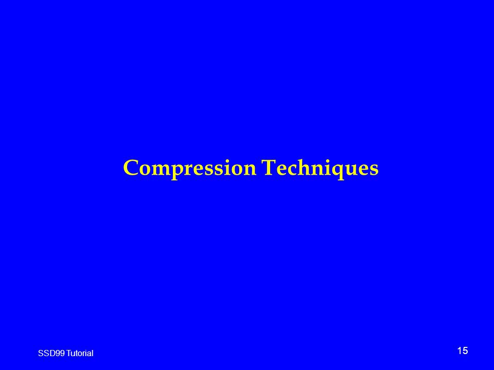 15 SSD99 Tutorial Compression Techniques