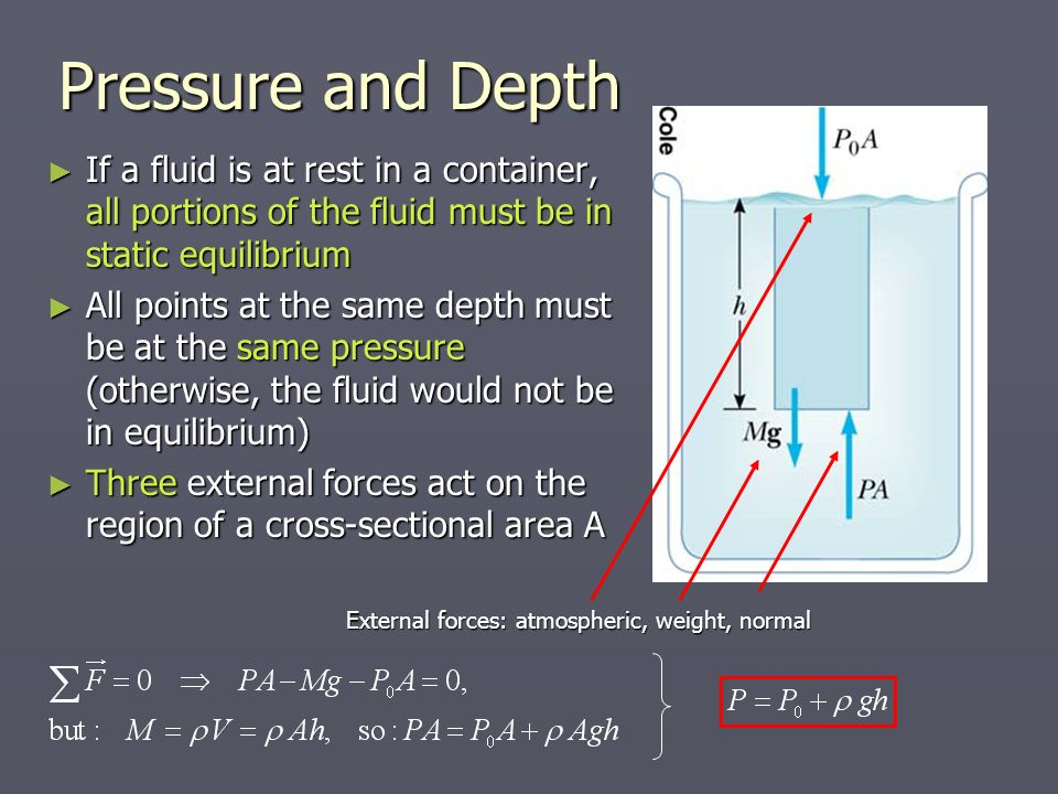 change in pressure and different depths in a static fluid lab essay To investigate the relationship between depth and in this experiment you will investigate the relationship between the pressure is taken at different depths.
