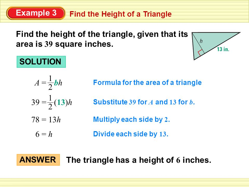 Example 1 find the area of a right triangle find the area of the 3 example ccuart Choice Image