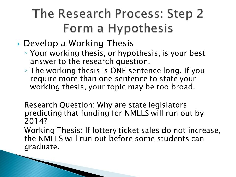 forming a working thesis Thesis statement guide results thesis these thesis statements are generated based on the answers provided on the form use the thesis statement guide.