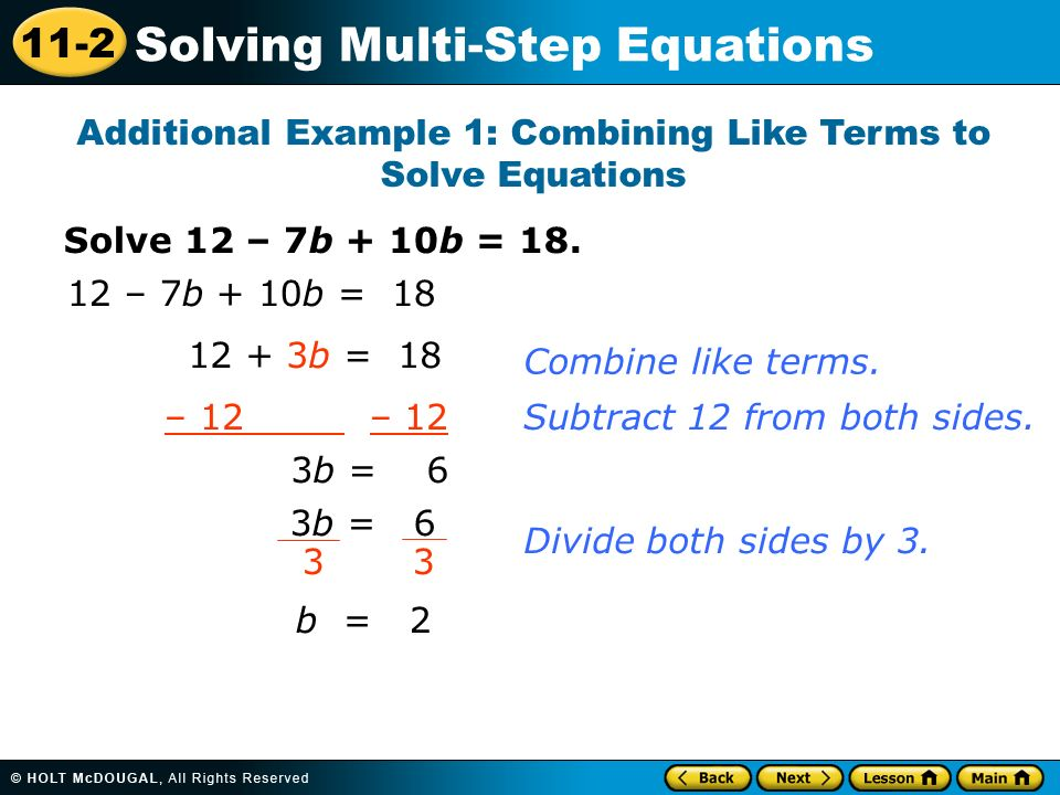solve multi step problems using equations lesson 2 12