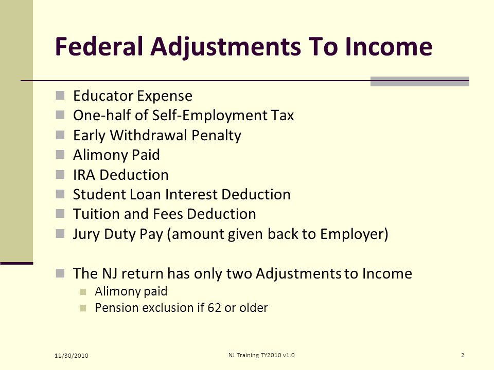 Adjustments To Income Form  Lines Pub  Tabs E  Pub