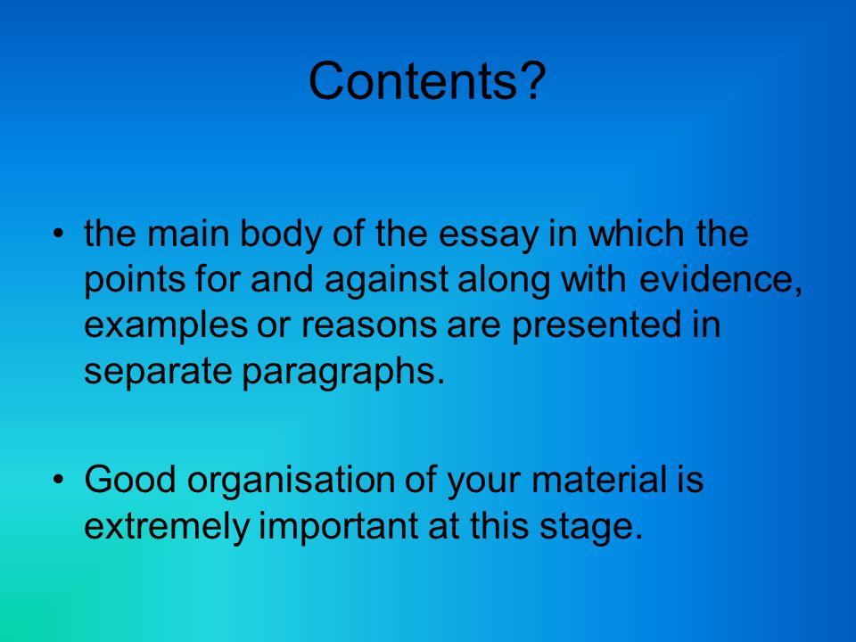 discursive essay on