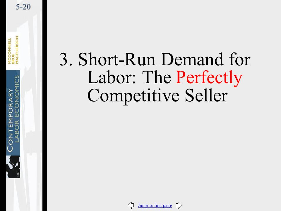 Jump to first page5-20 3. Short-Run Demand for Labor: The Perfectly Competitive Seller