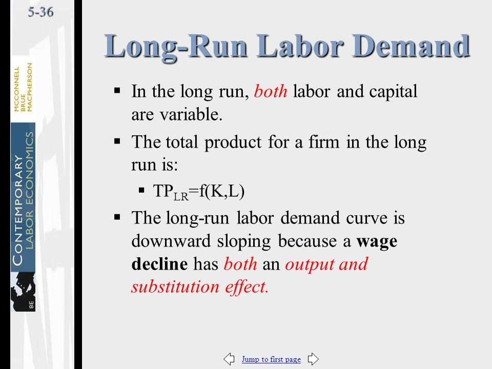 Jump to first page5-36  In the long run, both labor and capital are variable.