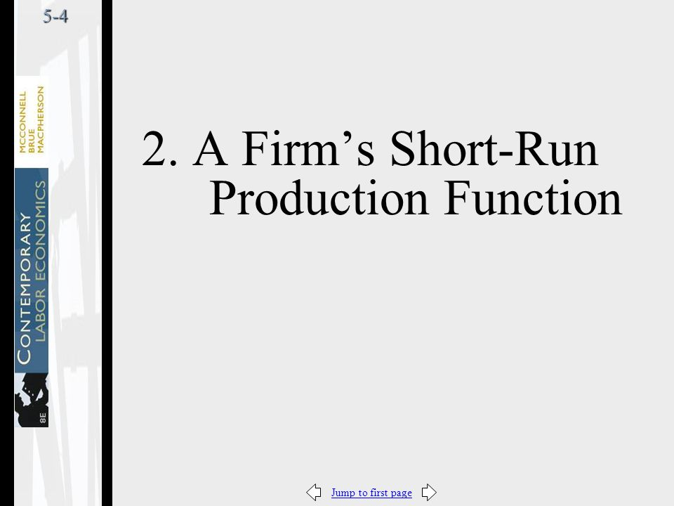 Jump to first page5-4 2. A Firm's Short-Run Production Function