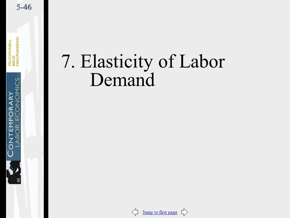 Jump to first page5-46 7. Elasticity of Labor Demand