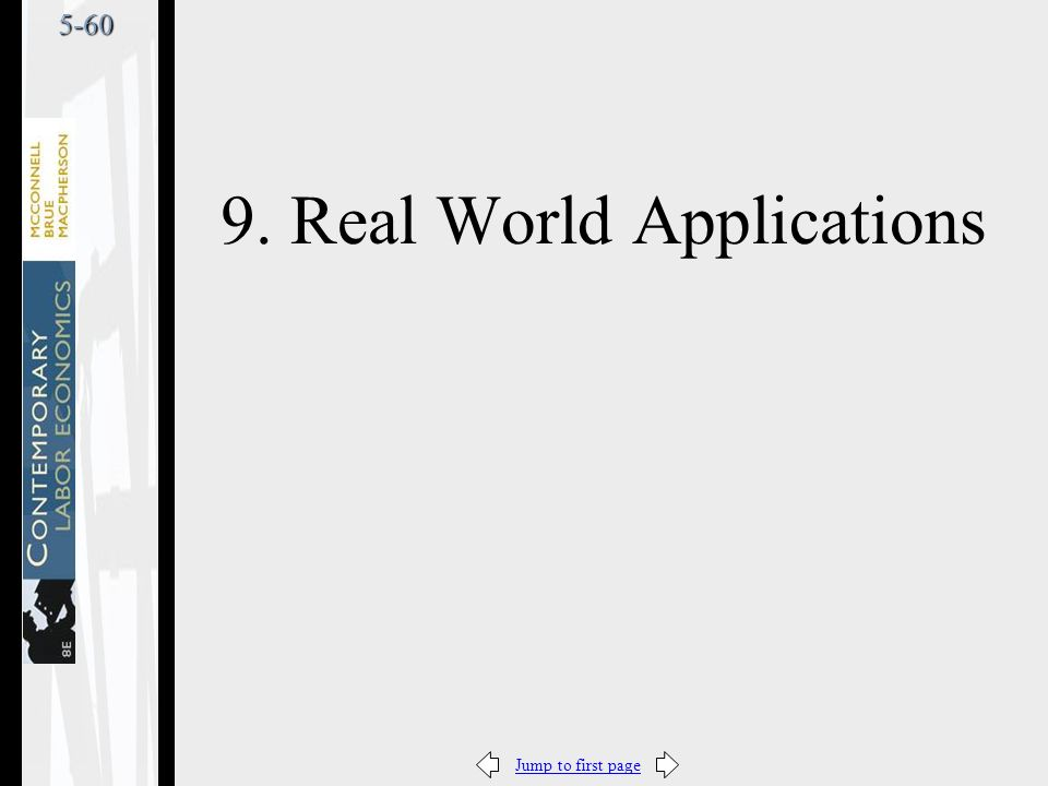 Jump to first page5-60 9. Real World Applications
