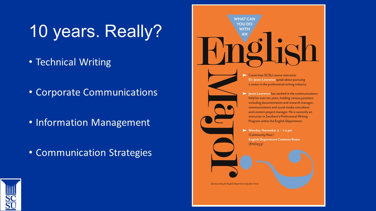 Career seeking what can you do with an english major ppt download career seeking what can you do with an english major 2 10 years 1betcityfo Gallery