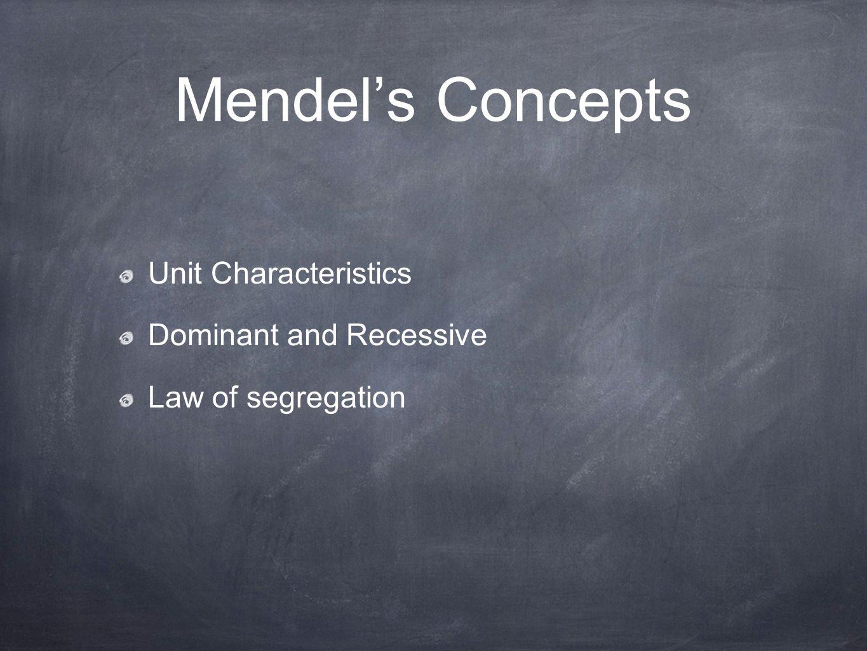 understanding the concept behind mendels law of segregation