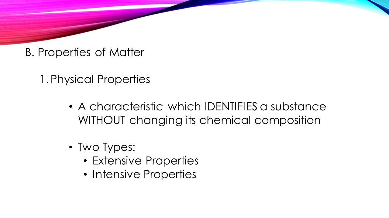 Chemistry properties worksheet