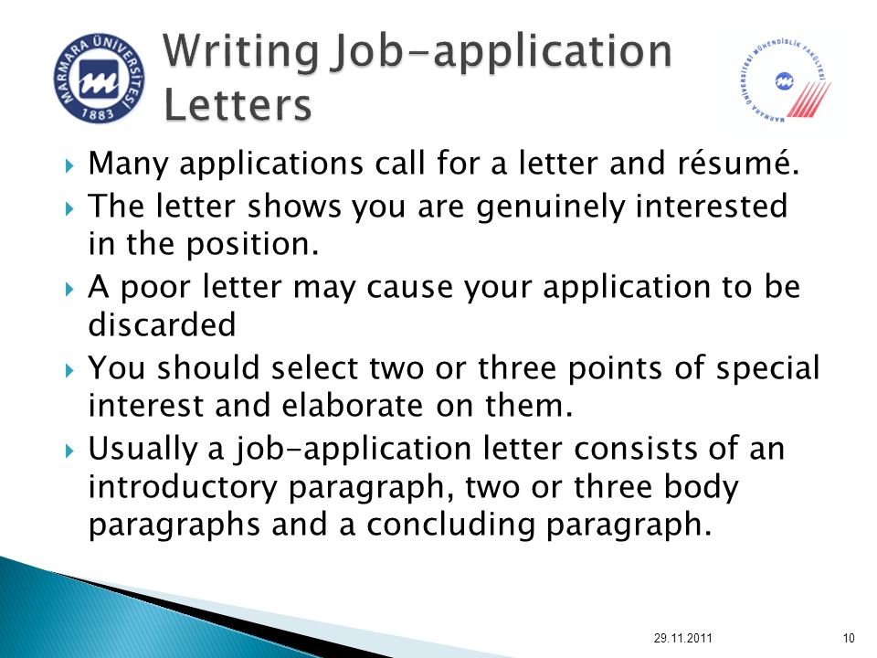 job applications essays