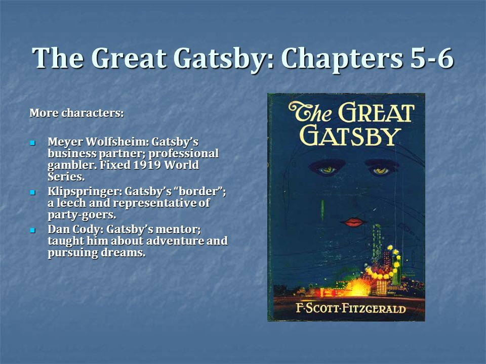 the great gatsby characters essay The great gatsby essay topics here's a list of the great gatsby essay topics, titles and different search term keyword ideas the larger the font size the more popular the keyword, this list is sorted in alphabetical order.