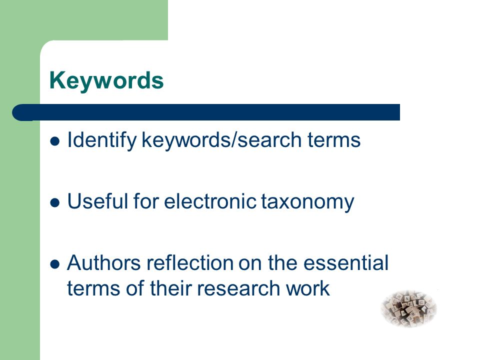 Apa abstract keywords