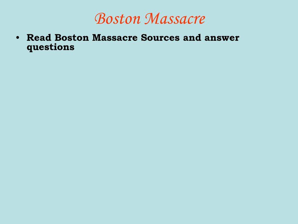 boston massacre essay question