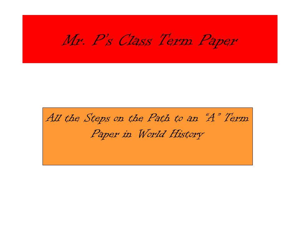 Term Paper Heading