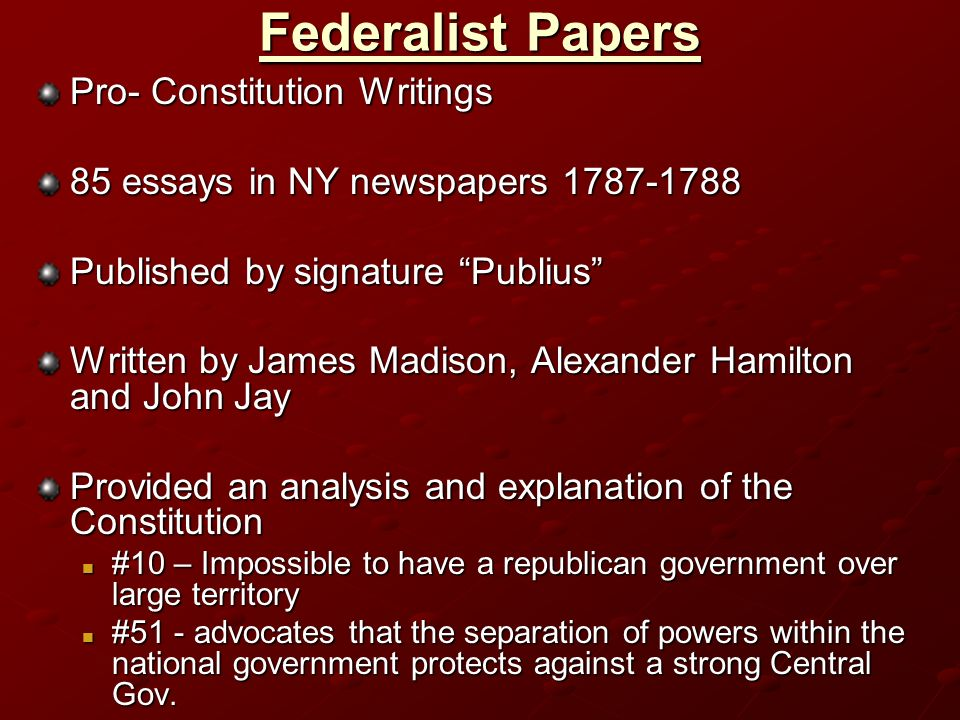 who signed the federalist essays publius