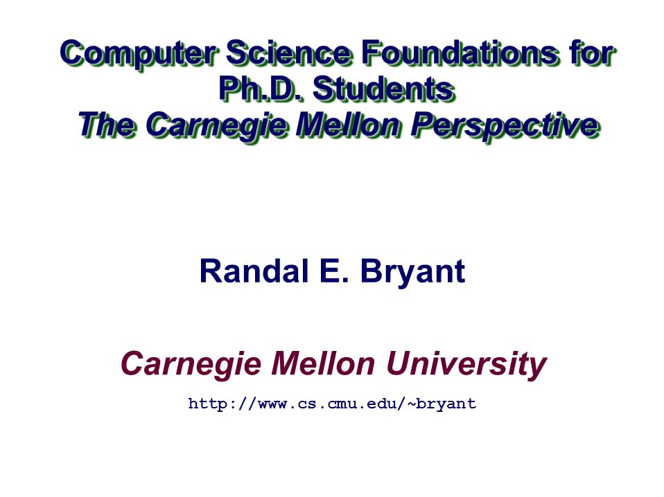 Carnegie Mellon University - Electrical and Computer