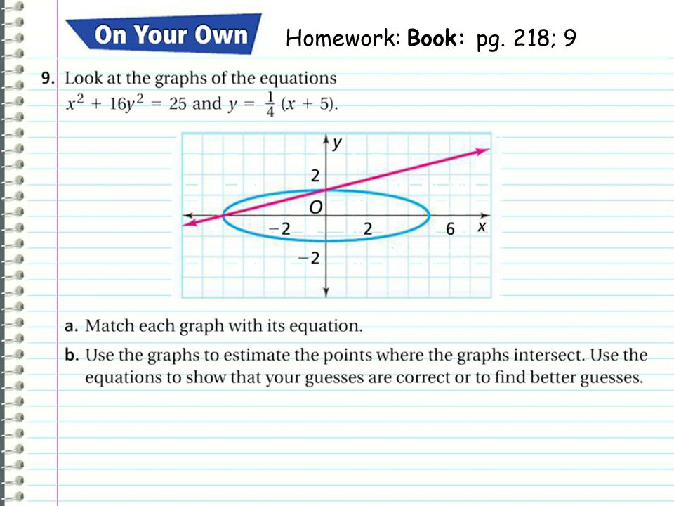 Todays HW Homework: Book: pg. 218; 9