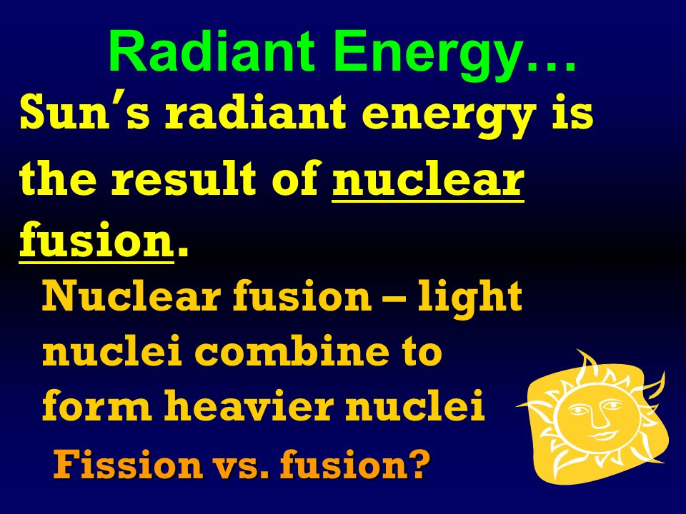 Radiant Energy travels through space is energy that travels ...
