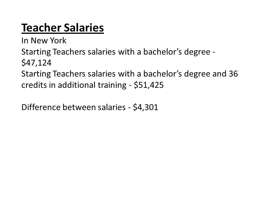 On West Virginia Teachers Starting salary - $26, 704 Average salary ...