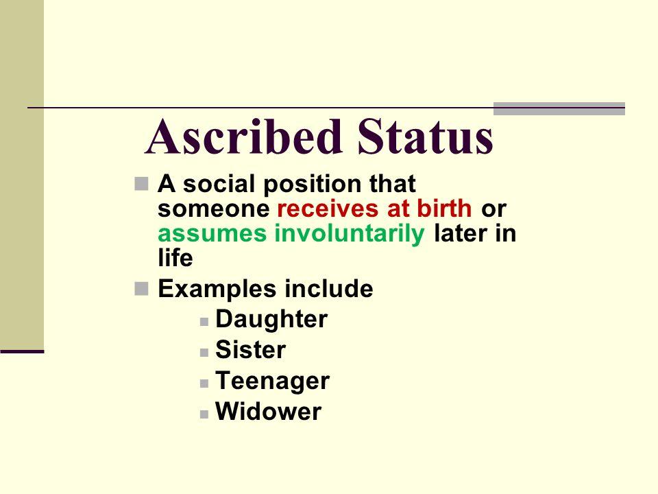 ascribed status
