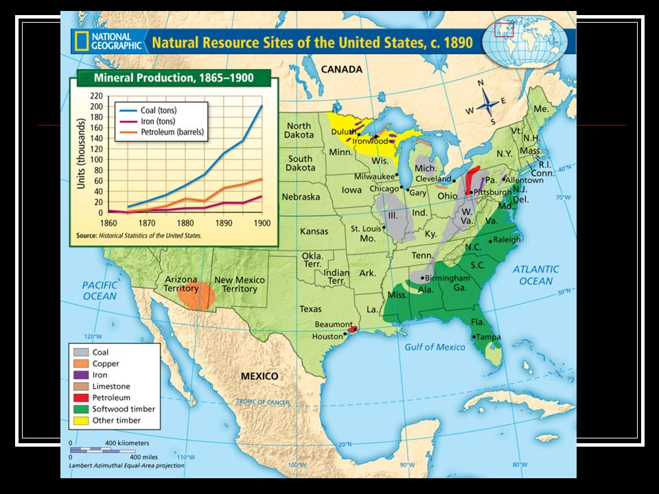 The Growth Of US Industry To A At The Time Of The Civil - Us lumber industry map 1900