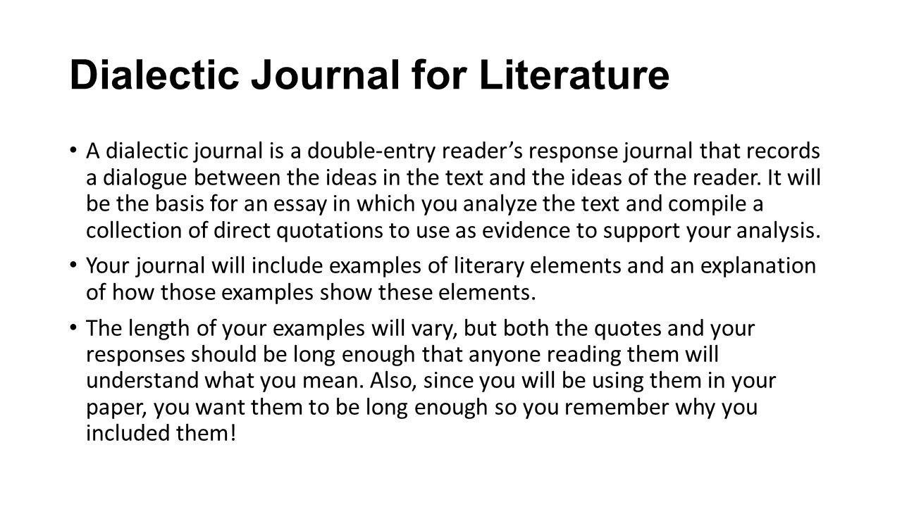 dialectic journal for literature a dialectic journal is a double  1 dialectic