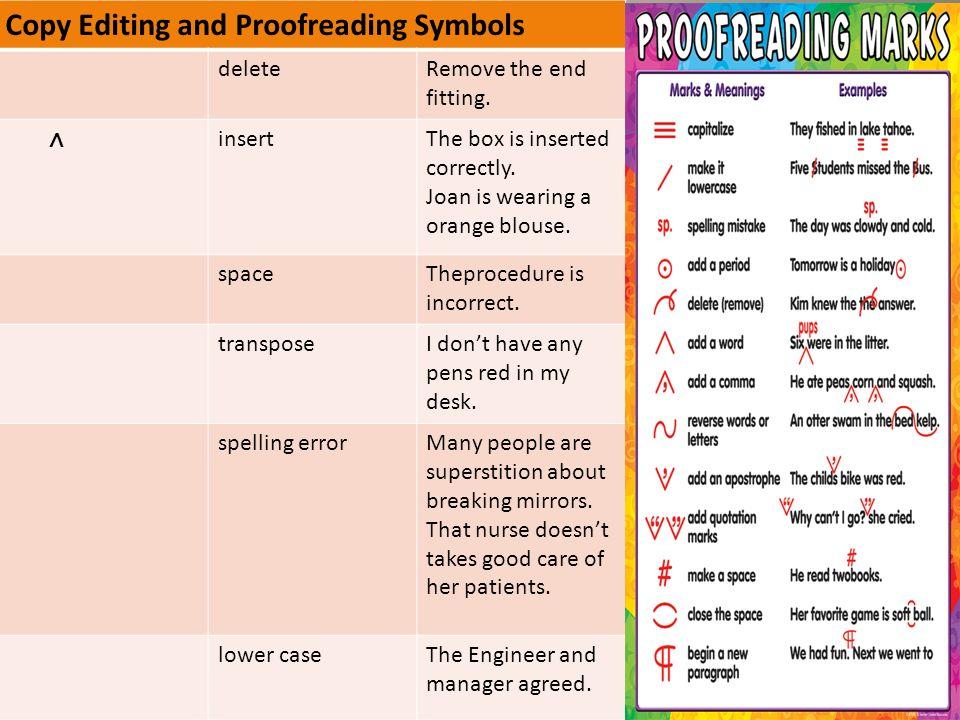 Indent proofreading mark