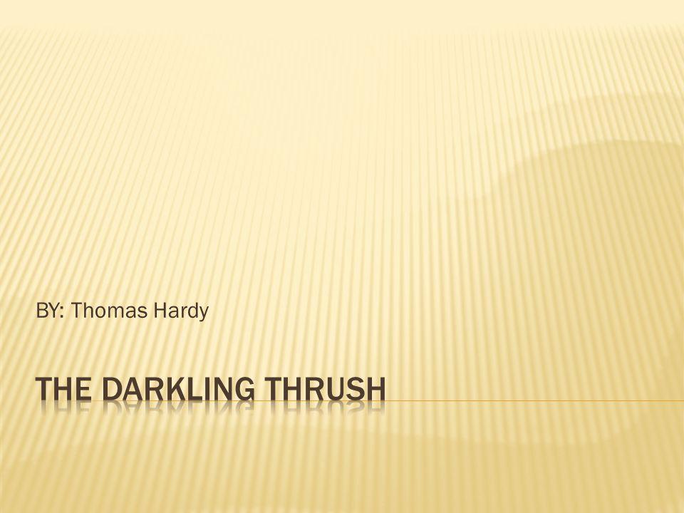 darkling thrush brief analysis