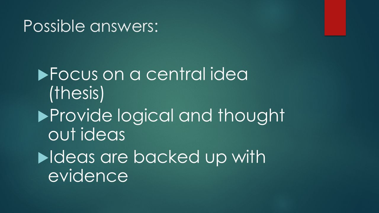 ideas for thesis
