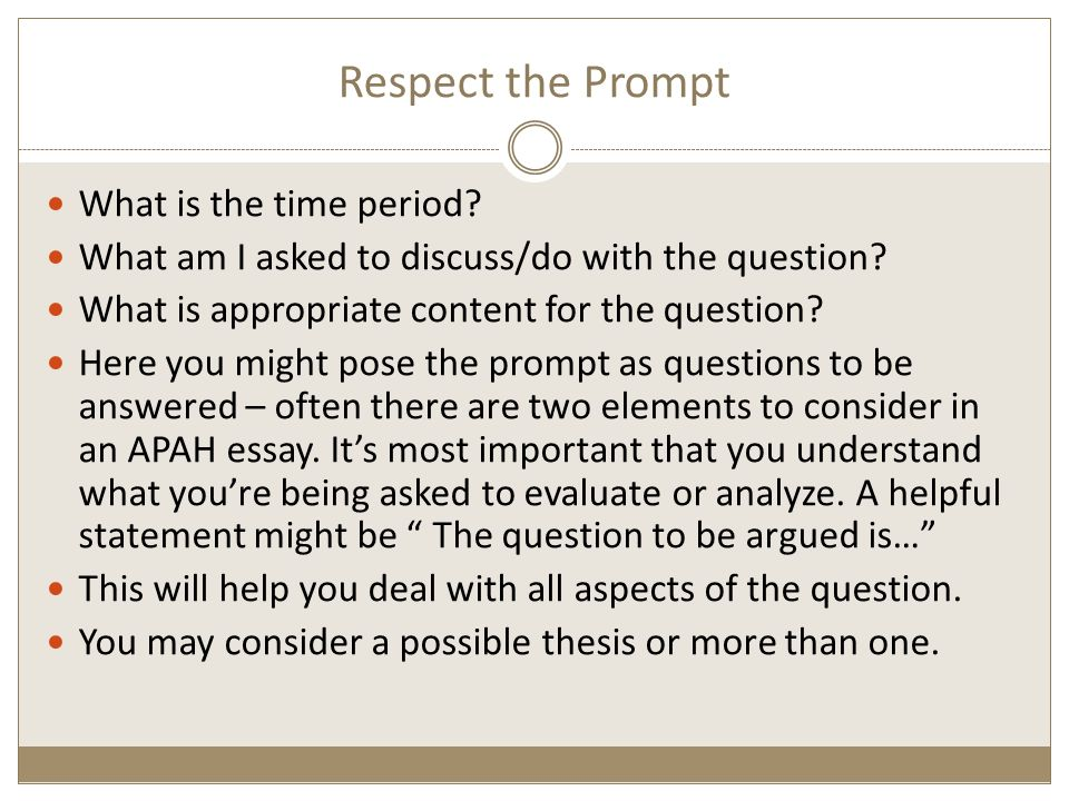 frq dbq writing apah essays respect the prompt what is the time  2 respect