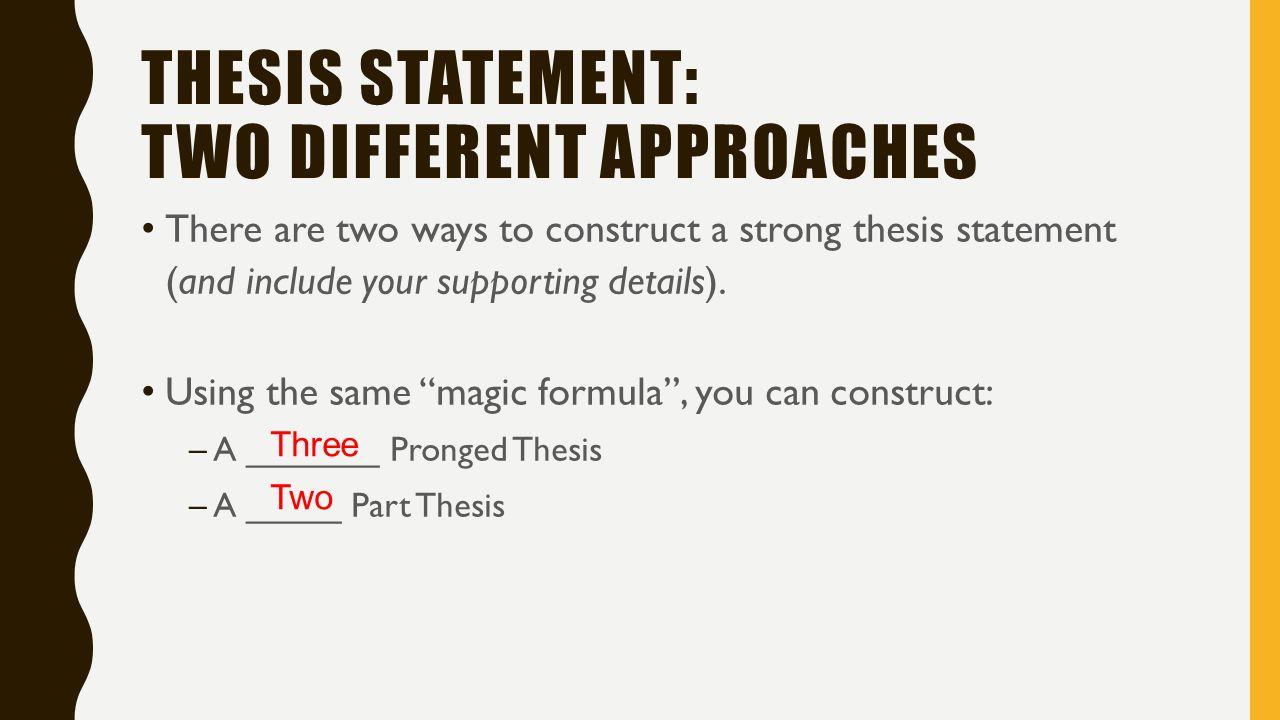 Magic thesis statement
