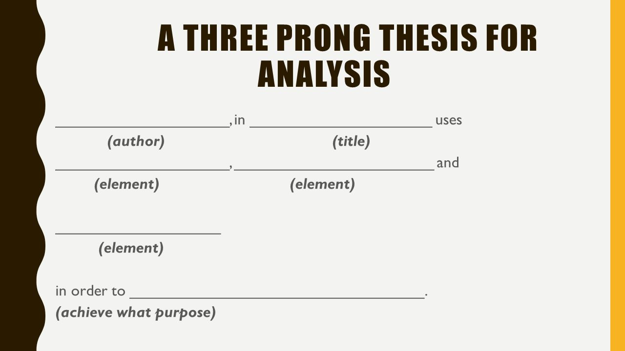 purpose of a thesis in a speech