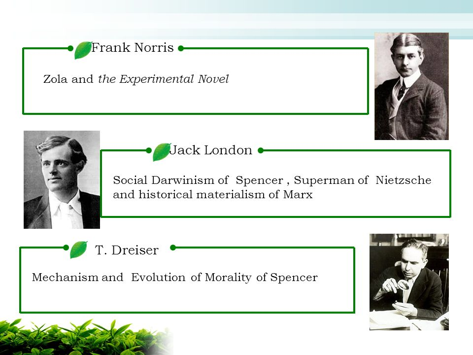 jack london determinism social darwinism I've read the story to build a fire by jack london i've explored the influence and examined the meanings of determinism and social darwinism how does to build a.