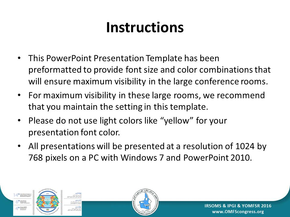 Your presentation paper title presenters name company instructions this powerpoint presentation template has been preformatted to provide font size and color combinations that toneelgroepblik Gallery