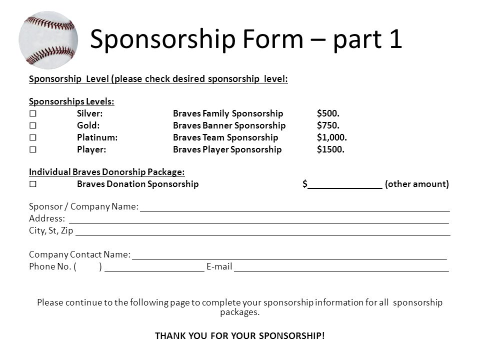 3 Sponsorship Form ...  Charity Sponsorship Form Template