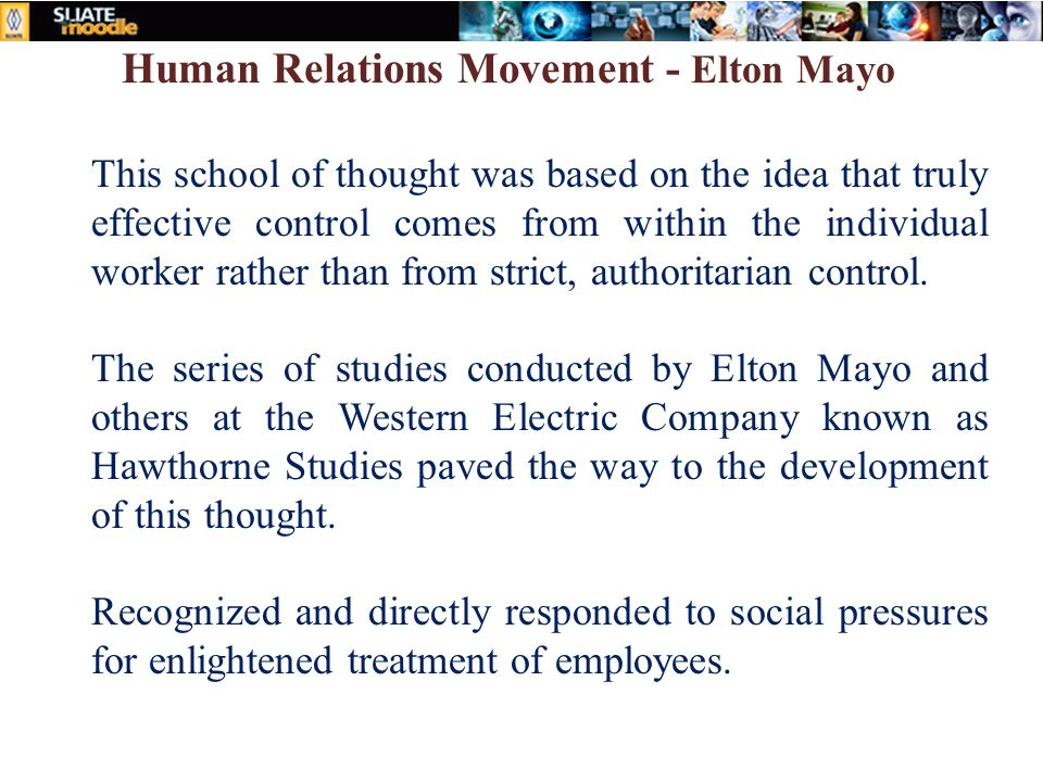 contributions of elton mayo to the development of management thought