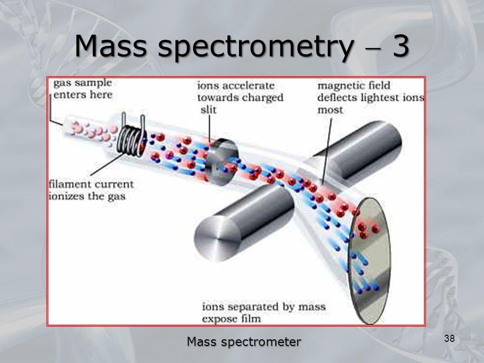 38 Mass spectrometry  3 Mass spectrometer