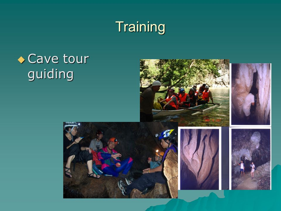 Training  Cave tour guiding