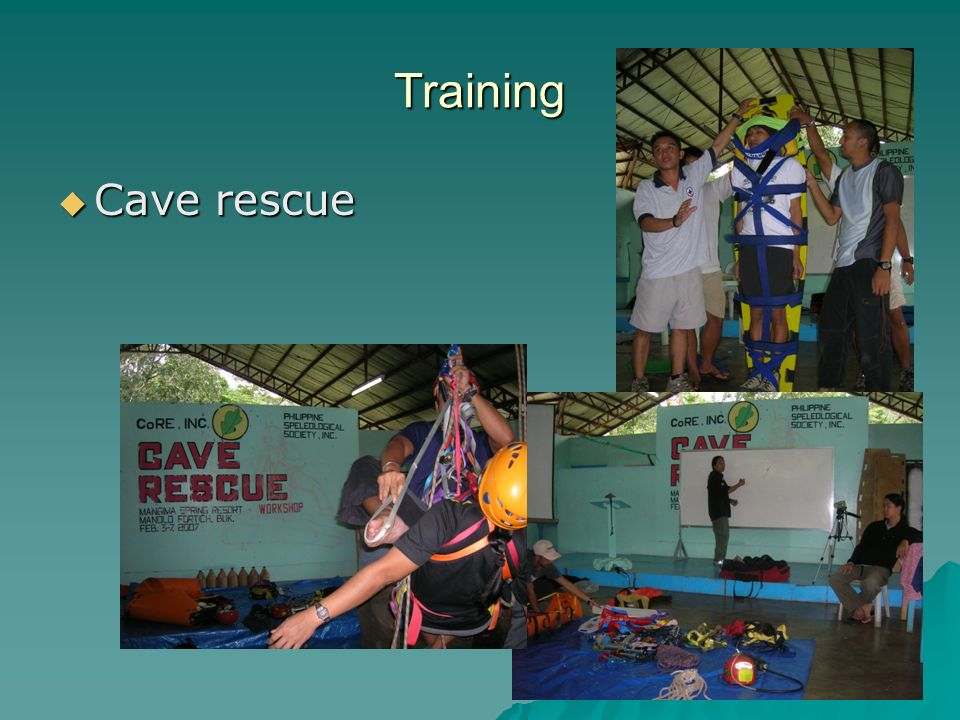 Training  Cave rescue